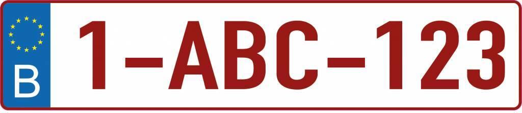 autocollant plaque d 39 immatriculation belge dr sticker. Black Bedroom Furniture Sets. Home Design Ideas