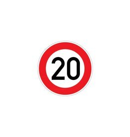 Limite de vitesse 20 km autocollant