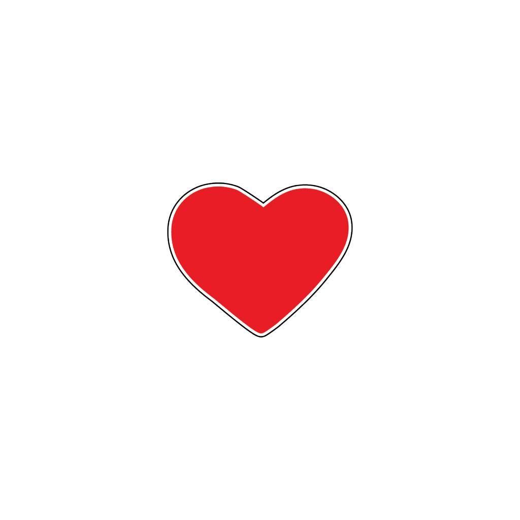 autocollant saint valentin c ur rouge dr sticker. Black Bedroom Furniture Sets. Home Design Ideas