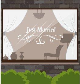 Anniversaire - Juste marié avec ornement gracieux