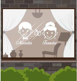 Anniversaire - Man & femme avec anneaux