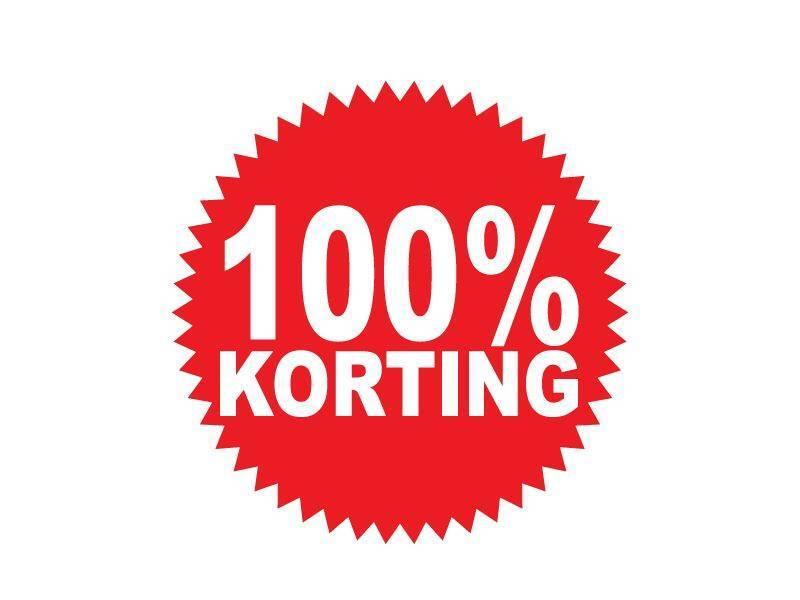 Autocollant circulaire 100% korting