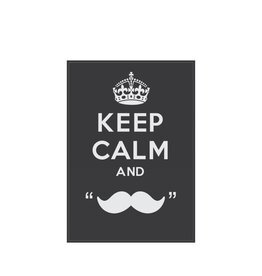 "Autocollant ""Keep calm and grow a moustache"""