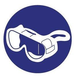 Autocollant lunettes de protection