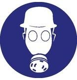Autocollant casque de sécurité et protection respiratoire obligatoire