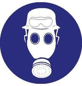 Autocollant casque, masque à gaz et lunettes de protection contre le feu obligatoire