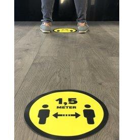 Distance de l'autocollant de plancher du magasin 1,5 mètre (25 cm environ)