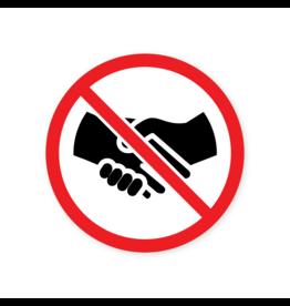 Easydot Wit Interdiction d'autocollant se serrant la main