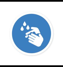 Easydot Wit Autocollant pour se laver les mains obligatoire