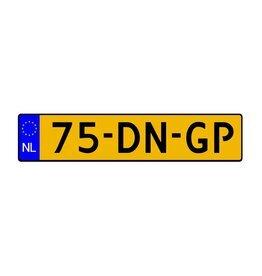 Autocollant d'immatriculation néerlandais