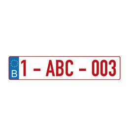 Autocollant d'immatriculation néerlandais - Copy