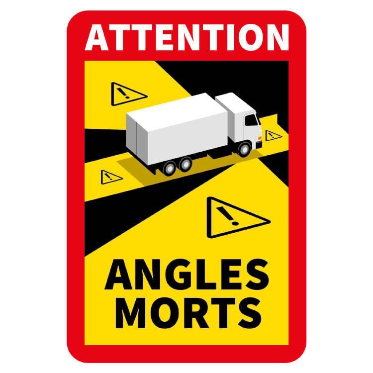 Blind spot - Autocollant Attention Angles Morts Truck (17 x 25 cm) (Prix = TVA incl.)