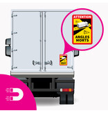 Feuille magnétique Blind spot - Attention Angles Morts Truck (17 x 25 cm) (Prix = TVA incl.)