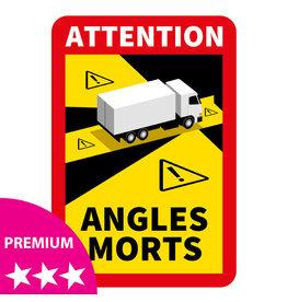 Blind spot - Autocollant camion PREMIUM (17 x 25 cm)